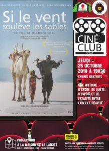 Ciné club – 25 octobre 19 h 30