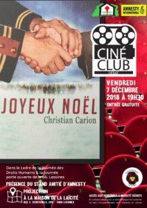 Ciné club – 7 décembre 19 h 30