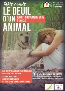 Table ronde – Le deuil d'un animal – 14 novembre – 19 h 30