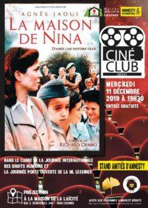 Ciné club – 11 décembre – 19 h 30
